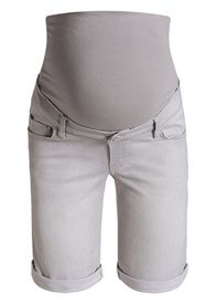 Queen Bee Denim Maternity Bermuda Shorts in Grey by Esprit