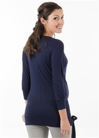 Queen Bee Aveline Maternity Nursing Tunic in Navy by Trimester Clothing