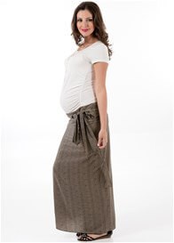 Queen Bee Etching Maternity Maxi Skirt by Trimester Clothing