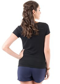 Queen Bee Dream Maternity Tee in Black by Trimester Clothing