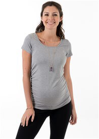Queen Bee Dream Maternity Tee in Grey by Trimester Clothing