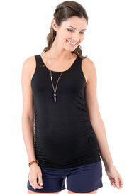 Queen Bee Black Miracle Maternity Tank Top by Trimester Clothing