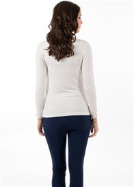 Queen Bee It Must Be Fate Long Sleeve Maternity Tee in Creme by Trimester