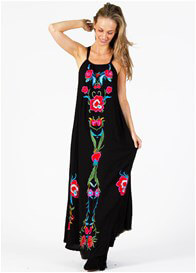 Queen Bee Bohemia Bohemia Maternity Maxi Dress in Black by Fillyboo