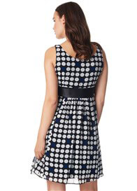 Queen Bee Luna Maternity Party Dress in Black Polkadot by Noppies