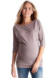 Queen Bee Saskia Maternity Nursing Top in Latte by Seraphine