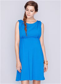 Queen Bee Celine Bamboo Maternity Nursing Dress in Blue by Dote Nursingwear