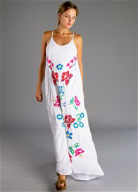 Queen Bee Ours is Love Embroidered Maxi Dress  by Fillyboo