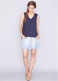 Queen Bee Daphne Nursing Tank Top in Navy Blue by Dote Nursingwear
