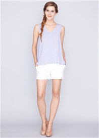 Queen Bee Daphne Nursing Tank Top in Sky Blue by Dote Nursingwear