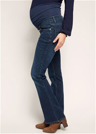 Queen Bee Flared Maternity Jeans in Dark Wash by Esprit