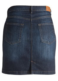Queen Bee Underbelly Maternity Denim Skirt in Dark Wash by Esprit
