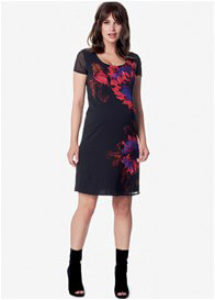 Queen Bee Quin Black Floral Maternity Dress by Noppies
