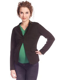 Queen Bee Ponte Maternity Blazer in Black by Queen mum