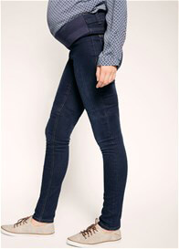 Queen Bee Dark Blue Wash Maternity Denim Jeggings by Esprit