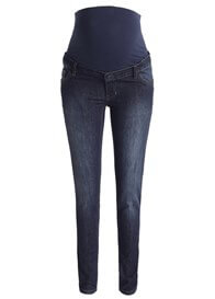 Queen Bee Dark Wash Full Panel Skinny Maternity Jeans by Esprit