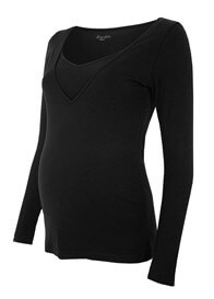 Queen Bee Milkizzy Zoe Nursing Top in Black by Pomkin