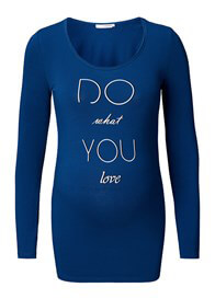 Queen Bee Do What You Love Maternity T-Shirt in Blue by Supermom