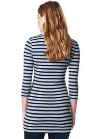 Queen Bee Boulevard Striped Maternity Tunic by Supermom