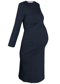 Queen Bee Blue Long Sleeved Empire Maternity Nursing Dress by Queen mum