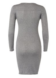 Queen Bee Freya Cashmere Blend Knit Maternity Dress in Grey by Noppies