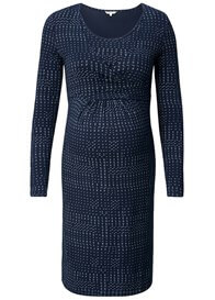 Queen Bee Elias Maternity Nursing Dress in Dark Blue Print by Noppies