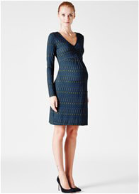 Queen Bee Sophie Brushed Jersey Maternity Dress in Kings Crossing by Leota