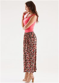 Queen Bee Logan Nursing Maxi Dress in Red / Black Floral by Floressa