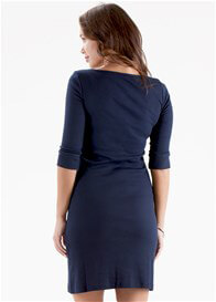 Queen Bee Adele Breastfeeding Dress in Navy Blue by Trimester Clothing