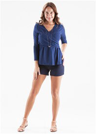 Queen Bee Navy Blue Crossover Nursing Top by Dote Nursingwear