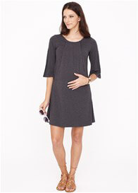Queen Bee Orla Bamboo Nursing Dress in Grey by Dote Nursingwear