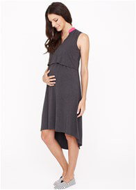 Queen Bee Simone Maternity Nursing Dress in Grey by Dote Nursingwear