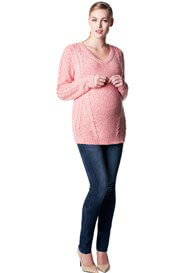 Queen Bee Hailey Cable Knit Maternity Jumper by Noppies