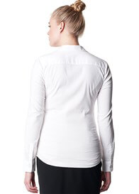 Queen Bee Imke White Collared Long Sleeve Maternity Work Blouse by Noppies