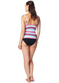 Queen Bee Malta Maternity Swimwear Tankini Top in Pink Chevron by Noppies
