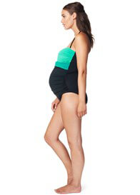 Queen Bee Green Colourblock One-Piece Maternity Swimsuit by Noppies