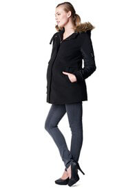 Queen Bee Ammy Faux Fur Trim Maternity Jacket by Noppies