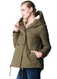 Queen Bee Abby Winter Hooded Maternity Jacket in Olive by Noppies