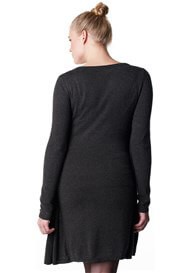 Queen Bee Haeli Grey Knit Maternity Dress w Attached Cardigan by Noppies