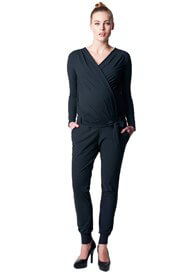 Queen Bee Cal Black Maternity Nursing Jumpsuit by Noppies
