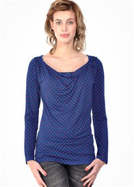 Queen Bee Milkizzy Prisca Breastfeeding Top in Blue Print by Pomkin