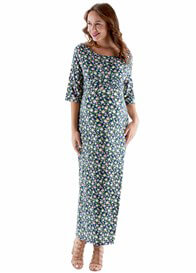 Queen Bee London Floral Print Maternity Maxi Dress by Trimester Clothing