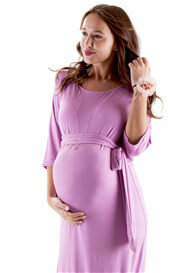 Queen Bee Sydney Maternity Maxi Dress in Persian Rose by Trimester Clothing