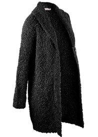Queen Bee Boucle Knit Maternity Cardigan in Black by Queen mum