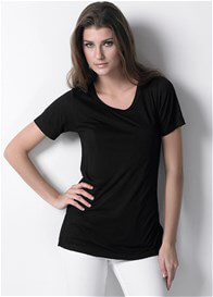 Queen Bee Classic Nursing Tee in Black by Dote Nursingwear