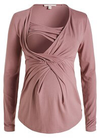 Queen Bee Pleated Maternity Nursing Top in PInk by Esprit