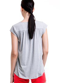 Queen Bee Lindsay Pocket Nursing Top in Grey by Dote Nursingwear