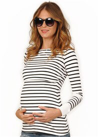 Queen Bee Jake Striped Maternity Nursing Top by Quack Nursingwear