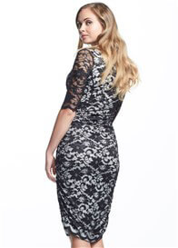 Queen Bee Gigi Black Lace Maternity Dress by Soon Maternity