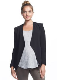 Queen Bee Styler Maternity Jacket in Black by Soon Maternity